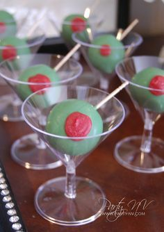 Martini Cake Pops