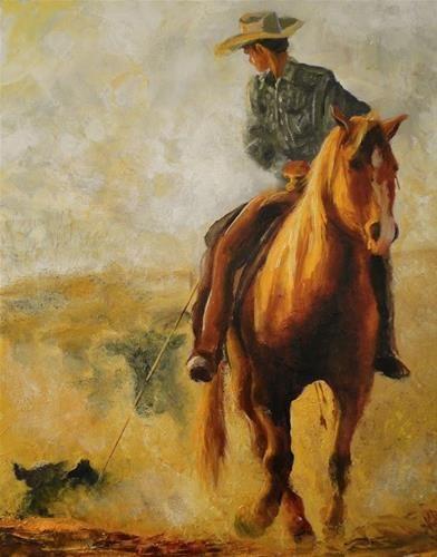 "Daily Paintworks - ""Golden Light 2"" - Original Fine Art for Sale - © Karen Robinson"