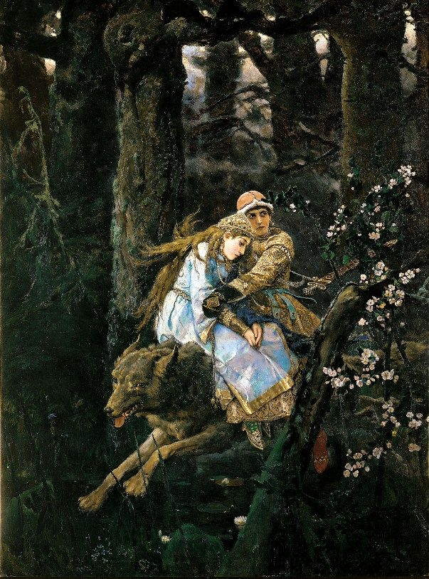 Prince Ivan on the Grey Wolf, 1889,  Viktor Mikhailovich Vasnetsov. Russian (1848 - 1926)