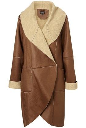 Bonded Faux Sheepskin Coat - StyleSays