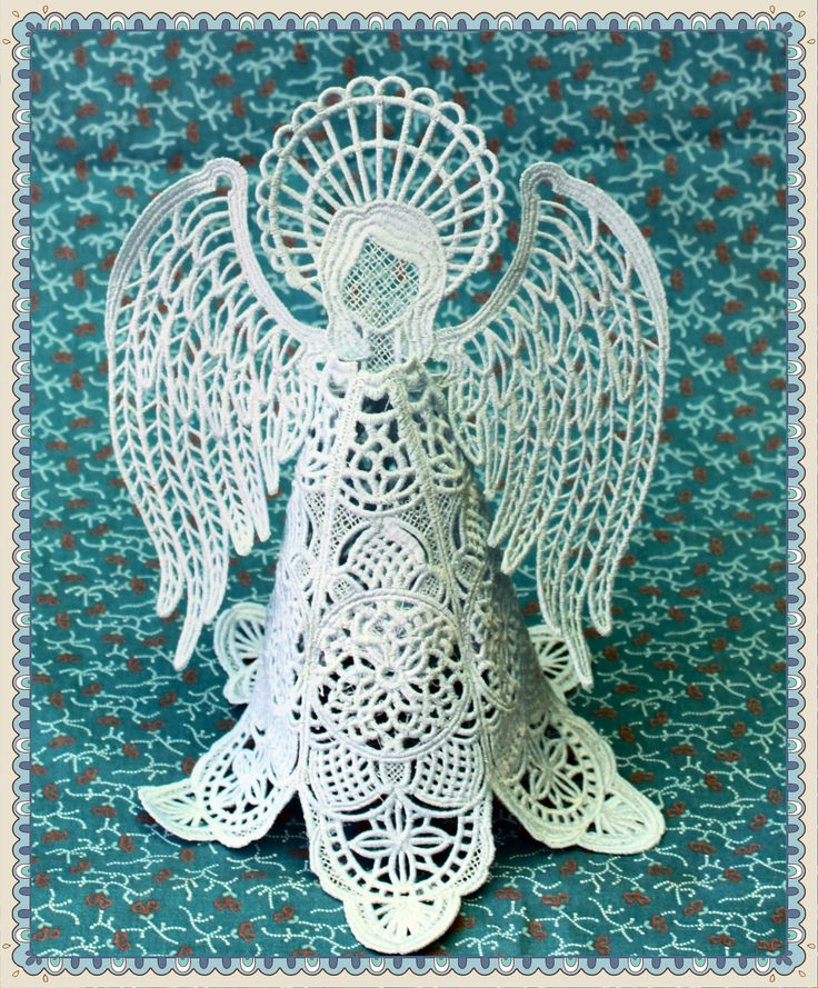 I embroidered this free standing lace design large