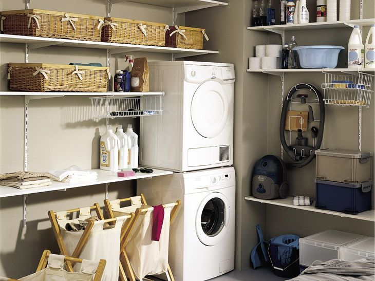 Le Rangement Dans La Buanderie Leroy Merlin Basement Laundry Room Basement Laundry Home