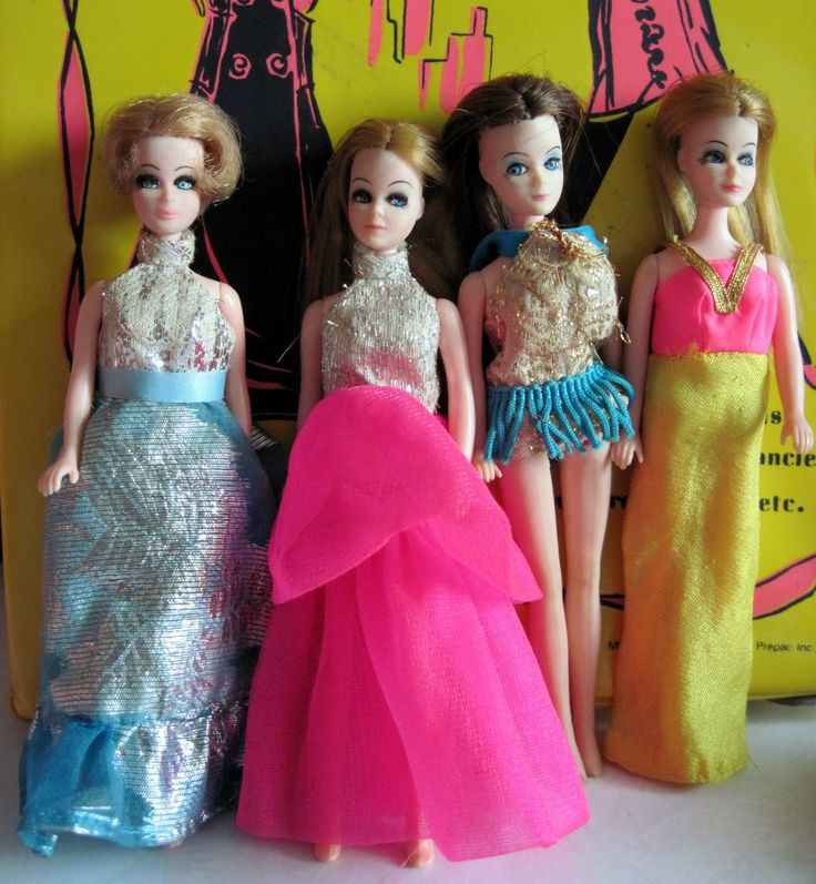 Vintage Dawn Dolls! These were the best! Teeny tiny Barbie dolls with the most awesome mod clothes. My sister had a ton of these that I inherited. I played with these for hours. I wish they still made these.
