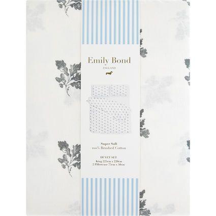 King White Floral Duvet Set