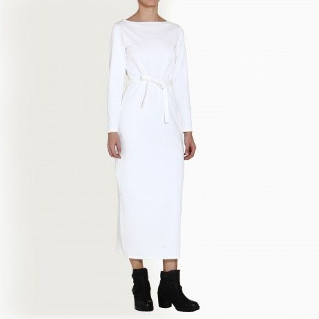 TAG JANICE WHITE LONG SLEEVE MAXI DRESS