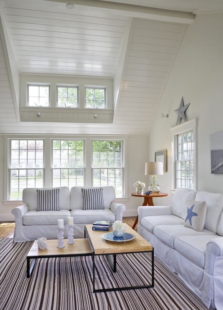 cathedral-ceilinged family room