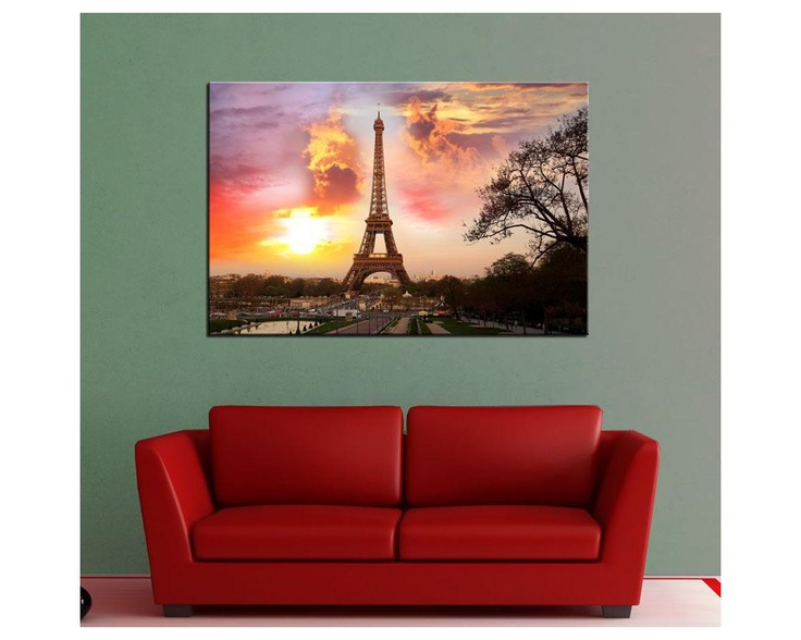 Paris sunset,  πίνακας σε καμβά