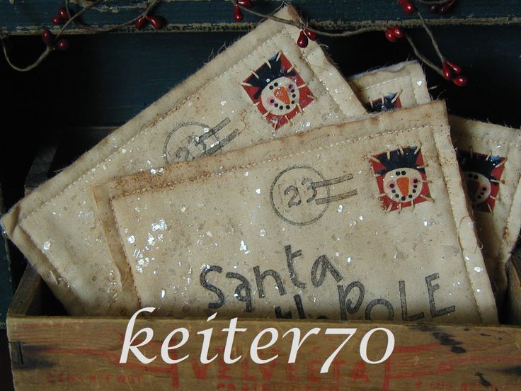 Primitive Christmas Holiday Santa Letters Ornies Ornament Bowl Fillers by keiter70 on Etsy https://www.etsy.com/listing/211399632/primitive-christmas-holiday-santa