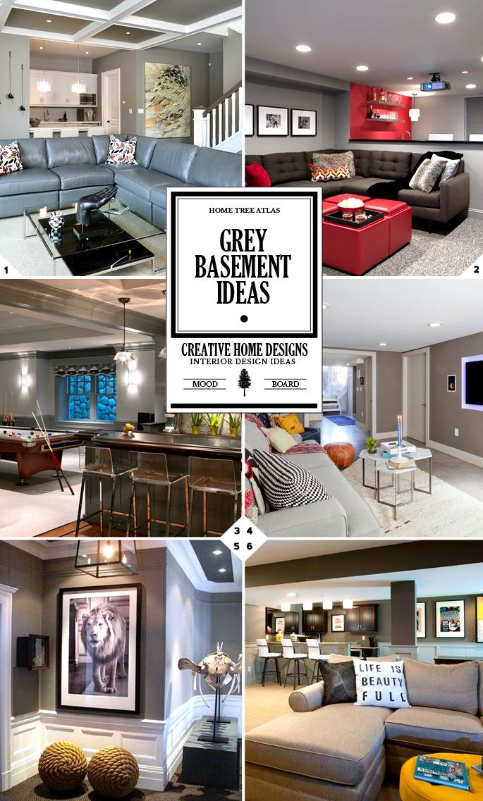 """The first question you need to ask yourself is """"how much grey do you want""""? And the second question to ask is """"what shade of grey?"""". These are the two questions we will be answering when going over the grey basement ideas below. How Much Grey? When most people think of a grey basement, they […]"""