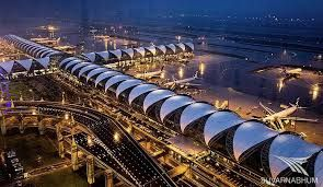 Bangkok Suvarnabhumi airport is one of the biggest airports in the world. It a HUB for South East Asia and handles international and some domestic flights.  http://siamsmiles.blogspot.nl/2016/01/bangkok-suvarnabhumi-airport.html
