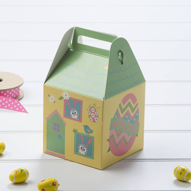 Easter egg gift boxes and egg box crafts 50 easter house gift box by the contemporary home notonthehighstreet diy crafts negle