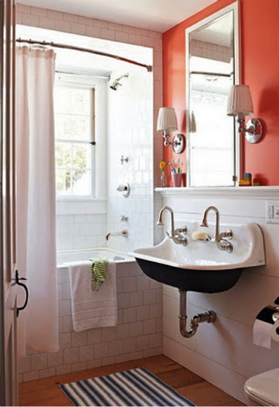 Coral and white bathroom   Master bath inspiration. 1000  images about Home   Bathroom Ideas on Pinterest   Acrylics