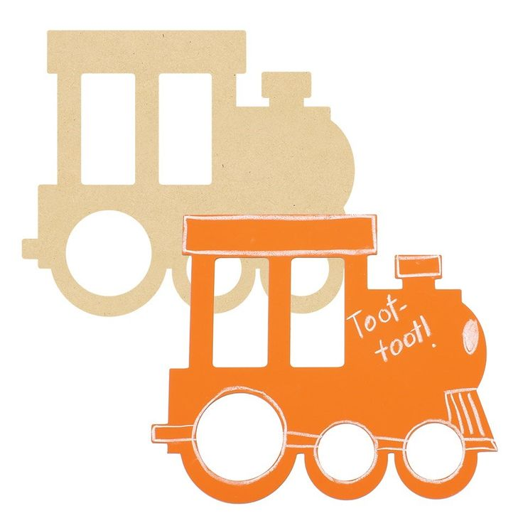 Toot Toot! Giant Wooden Train great for wall art in a transport themed room!