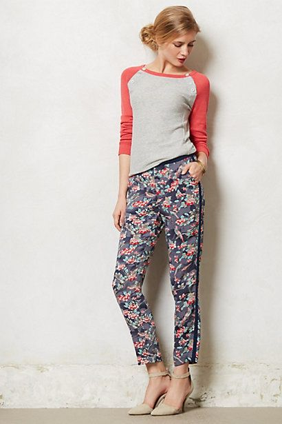 Floral Tuxedo Pants #anthropologiehttp://www.anthropologie.com/anthro/product/28297323.jsp