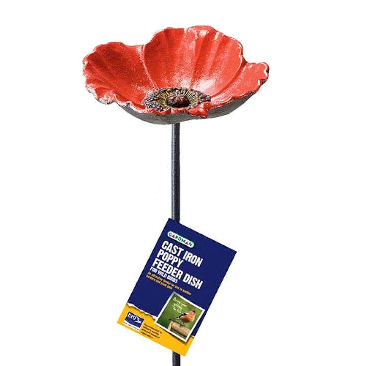 British Legion Cast Iron Poppy Feeder Dish on sale | free uk delivery