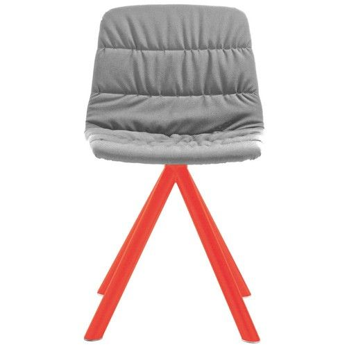 chaise pivotante maarten viccarbe fluo gris clair