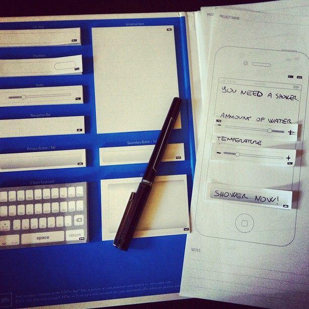 Lovely UXPin paper prototype by @Ignazio Lacitignola