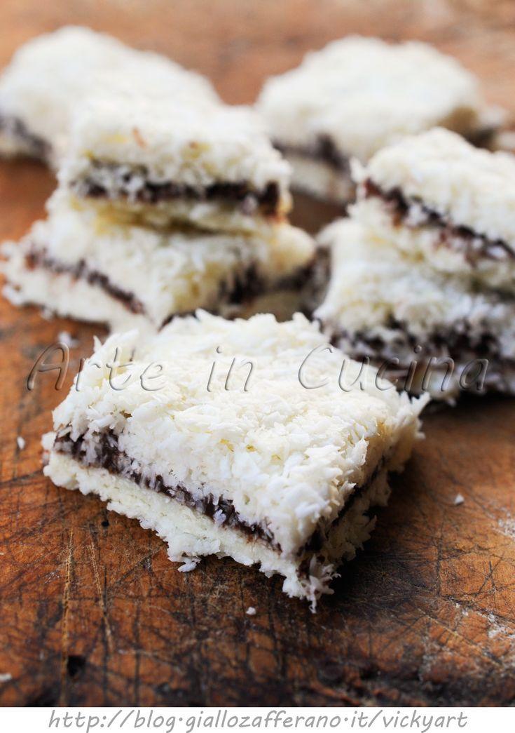 Pavè al cocco con nutella dolce senza forno vickyart arte in cucina