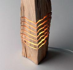 Minimalist Split Wood Lights and Sculptures by Split Grain wood lighting