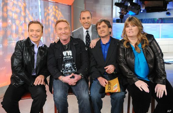 """David Cassidy, Danny Bonaduce, Brian Forster and Suzanne Crough on the """"Today"""" show in 2010."""