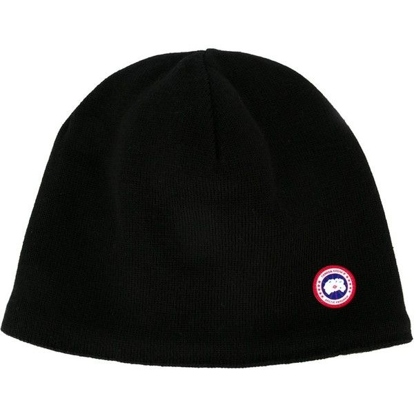 Canada Goose Wool Hat (€89) ❤ liked on Polyvore featuring men's fashion, men's accessories, men's hats, black, mens beanie hats and mens wool hats