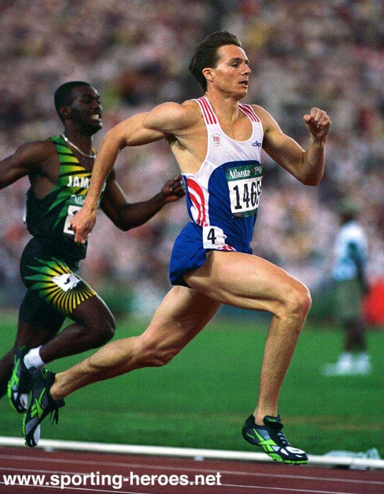 Roger Black (UK) Sprinter. Winner of two Olympic Silver medals in 1996 in 400m & 4x400m. Twice European Champion in 1986 & 1990 also three times European 4x400m Champion. Double Gold medallist in the 1986 Commonwealth Games.