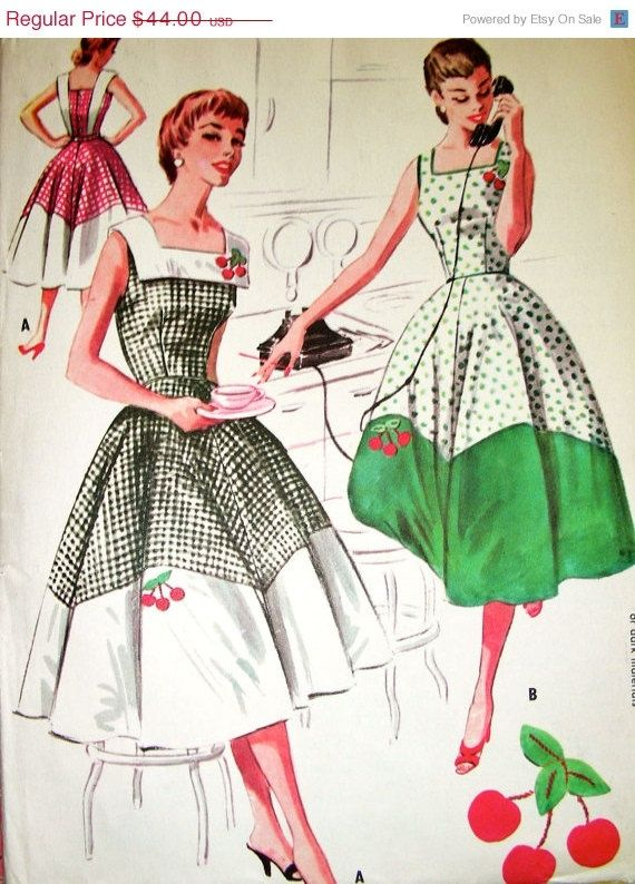 1950's McCall's #2039 vintage pinafore dress pattern. by anne8865,etsy