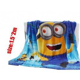 Minion Anime Coral Fleece Blanket  $39.99