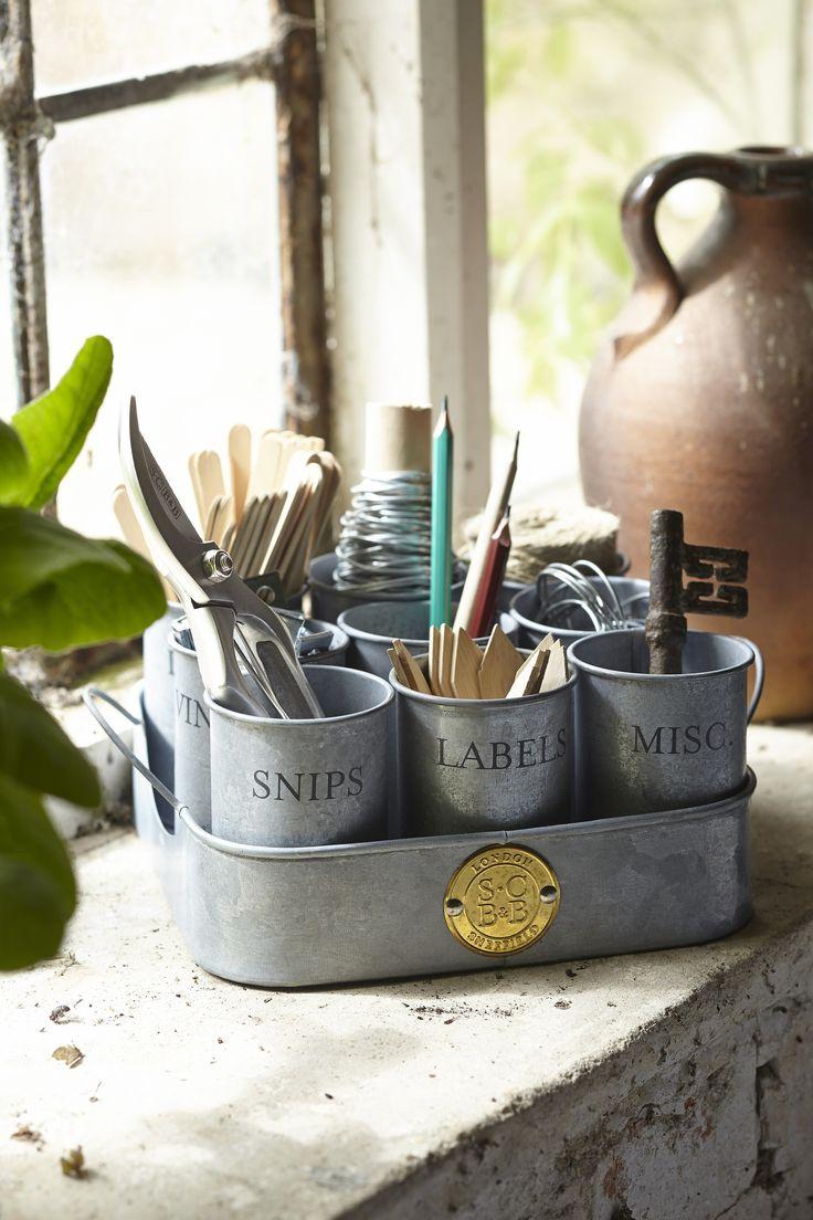 Gardeners Gubbins Pots - Galvanized