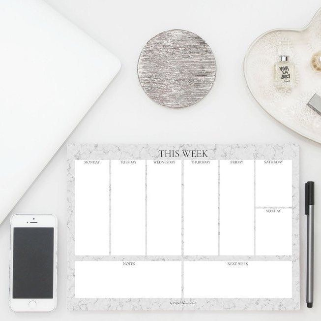 Two new planners in the shop! Marble Weekly Planner & Weekly Uni Planner