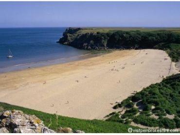 Barafundle Bay Beach, Stackpole Pembrokeshire,  Wales, UK