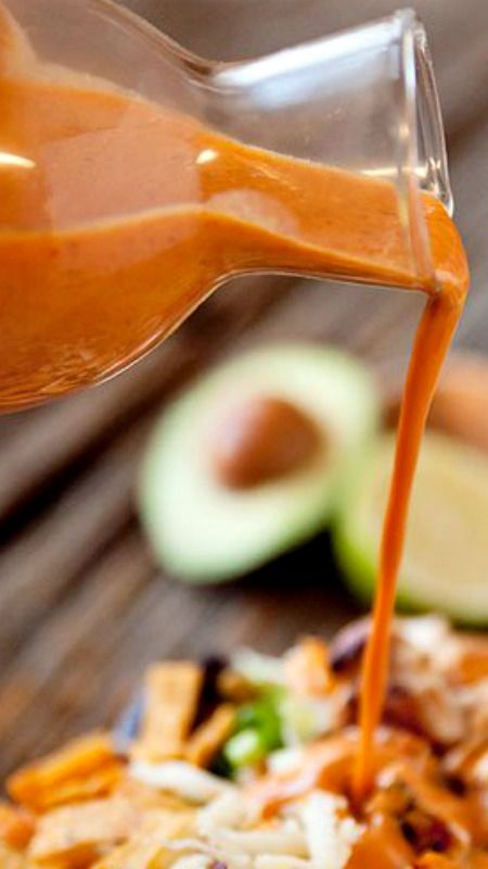 Chipotle Lime Southwest Dressing Recipe ~  a spicy salad dressing made with chipotle peppers in adobo sauce, fresh lime juice, southwest spices with a bit of creaminess from Greek yogurt.
