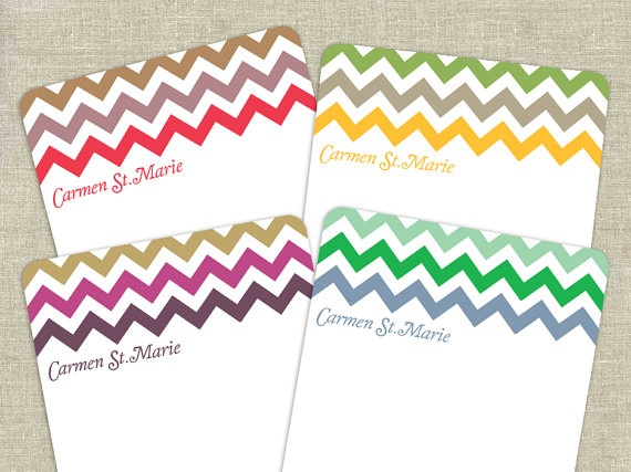 Chevron !!: Color Schemes, Multi Color, Color Patterns, Greeting Cards, Note Cards