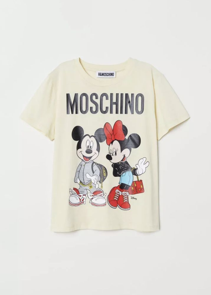 814166ba Moschino H&M Disney Mickey Minnie Light Yellow Tee T-Shirt Top Size S SOLD  OUT #fashion #clothing #shoes #accessories #womensclothing  #otherwomensclothing ...