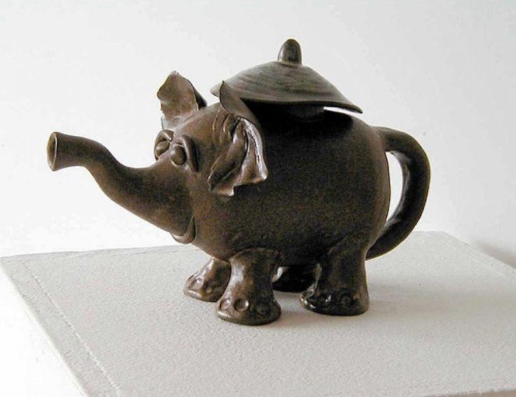 1000 images about ceramic love on pinterest ceramics ceramic sculptures and handmade ceramic - Elephant shaped teapot ...