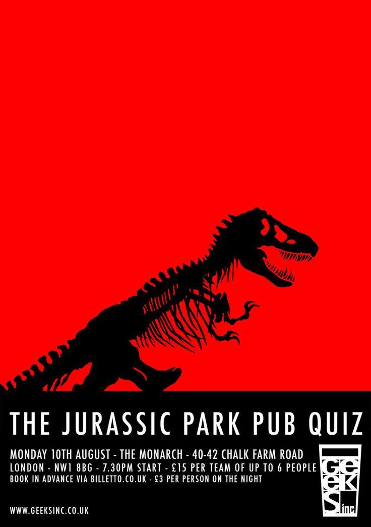 Tickets 'ere https://billetto.co.uk/jurassic-park-the-pub-quiz