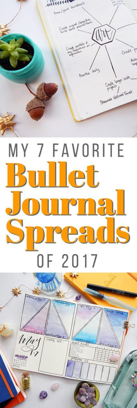 2017 has been an excellent year for the bullet journal and I've had a blast creating all kinds of bullet journal spreads. Throughout the year, these seven bullet journal spreads have been my absolute favorites! via @LittleCoffeeFox