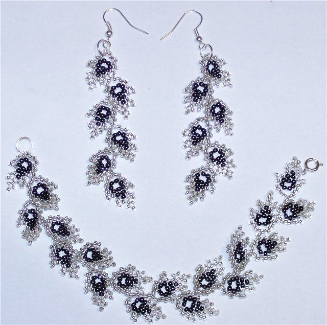 scheme to earrings and necklaces | biser.info - all about beads and beaded work