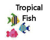 Seed Bead Pattern Brick Stitch Pattern Earrings Delica Beads Ornament Charms Tropical Fish Aquarium Beach Ocean Jewelry Digital on Etsy, $4.00
