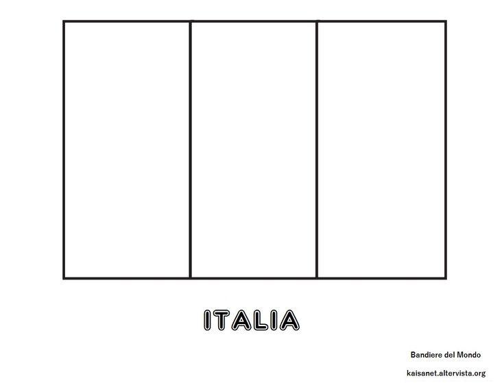 Bandiera Italia da colorare   Bandiera dell&39;italia ...