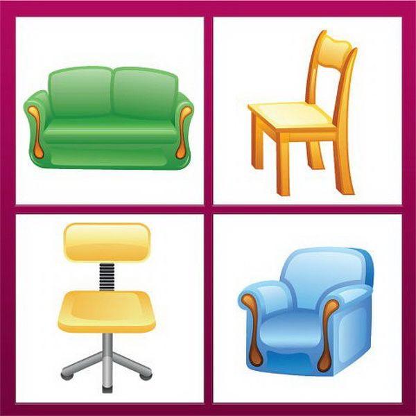 Картинки мебели для логопедического занятия
