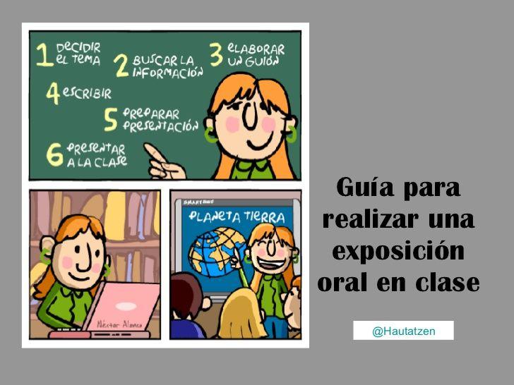 Guía para realizar exposiciones orales by Hautatzen (Marian) via slideshare