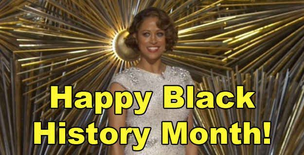 """Well tonight at the Oscars, Stacey Dash was introduced by host Chris Rock and she wished everyone a """"Happy Black History Month."""""""