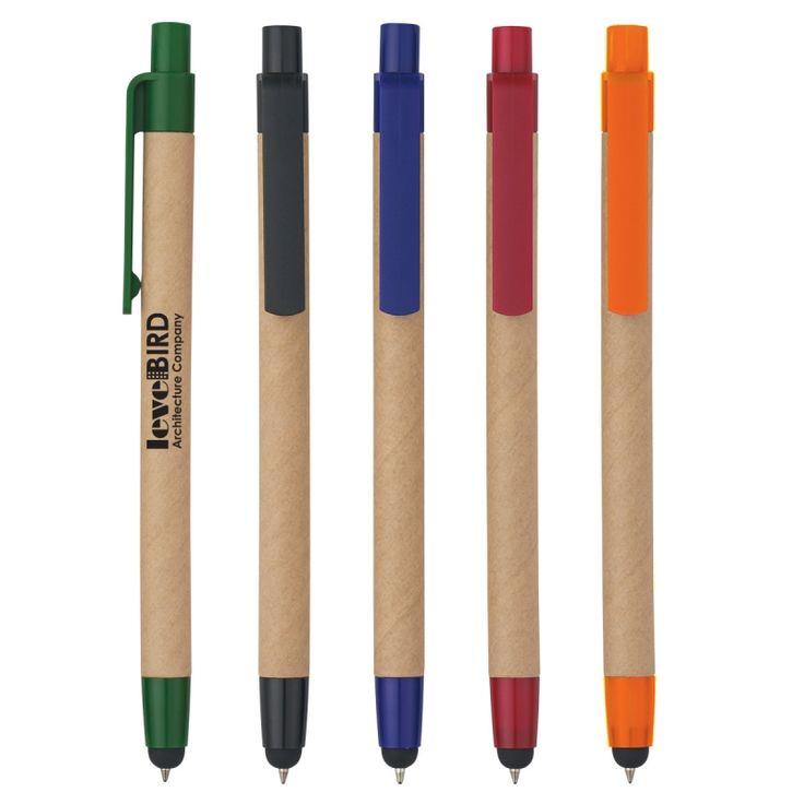 Lapicero Ecológico Colores Disponibles: Natural combinado con Negro, Azul, Verde, Anaranjado, Rojo