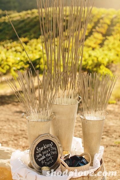 sparklers for an outdoor wedding at night.... would make great pictures for first dance