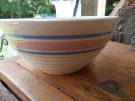 Vintage Farmhouse Mixing Bowls | Vintage Oven Proof USA Mixing Bowl Farmhouse Kitchen Small