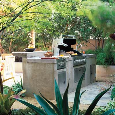 built in barbecue area