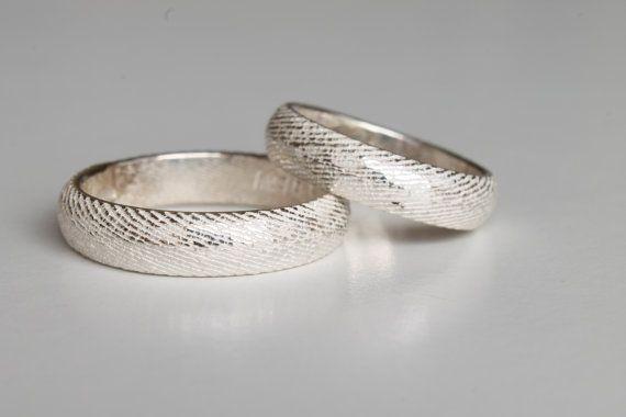 Fedine in argento 925 realizzate con la fusione di NaturalGeometry