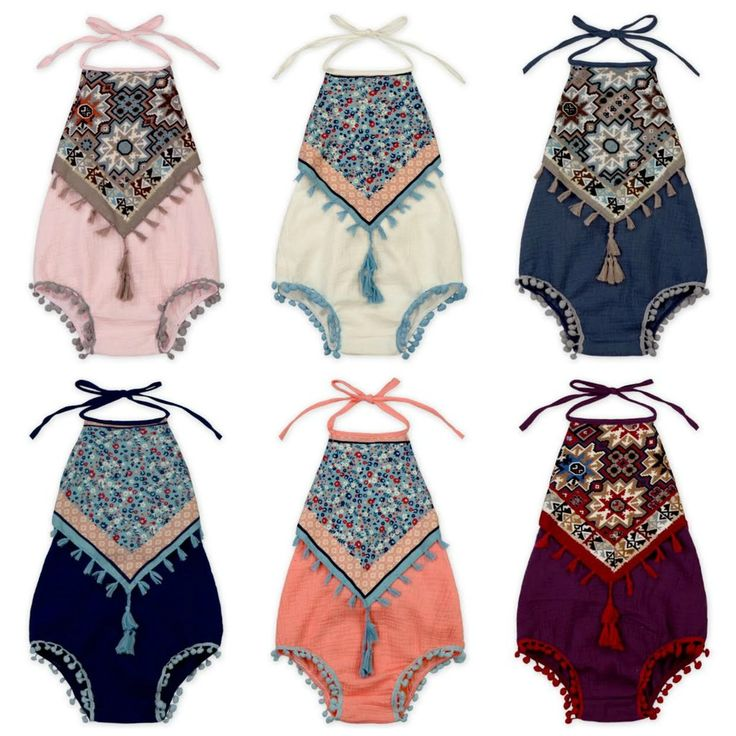 Indian Print Rompers