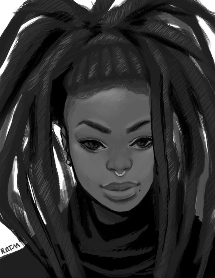 Black Women Art, Black Art, Art Pics, Woman Art, Black Magic, Study, Moon,  Portrait, Dreads